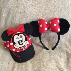 Disney Mini Mouse Hat and Ears Toddler Size